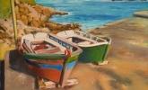 La Coruña. Barcas en San Roque